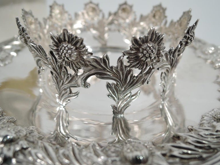 Set of 12 Rare Tiffany Chrysanthemum Bouillon Cups and Original Lenox Inserts 2