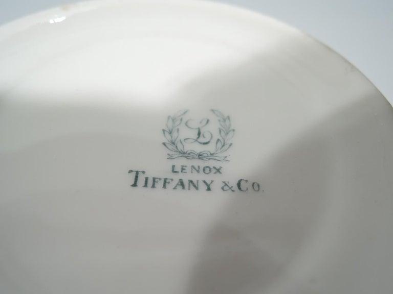 Set of 12 Rare Tiffany Chrysanthemum Bouillon Cups and Original Lenox Inserts 3