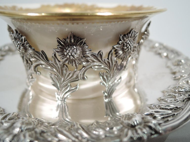 Set of 12 Rare Tiffany Chrysanthemum Bouillon Cups and Original Lenox Inserts 1