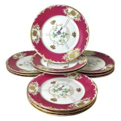 Set of 12 Royal Bayreuth Service Dinner Plates