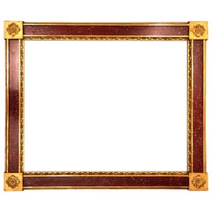 Set of 12 Russian Faux Porphyry Frames