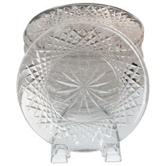 Set of 12 Signed Waterford Cut Crystal Plates