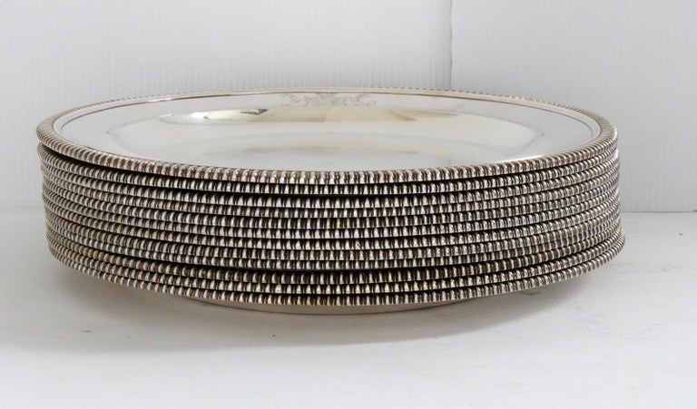 Set of 12 Silver Dinner Plates by Paul Storr For Sale 6