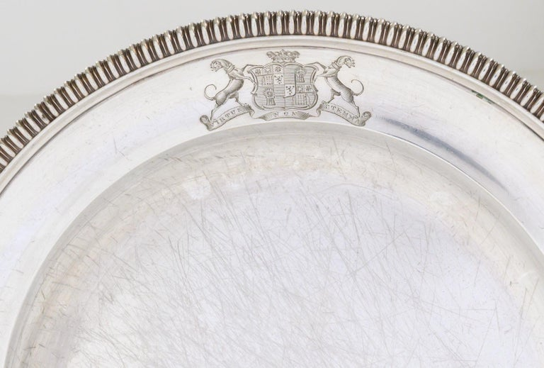 Set of 12 Silver Dinner Plates by Paul Storr For Sale 2