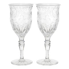 Set of 12 Stevens & Williams Water Goblets