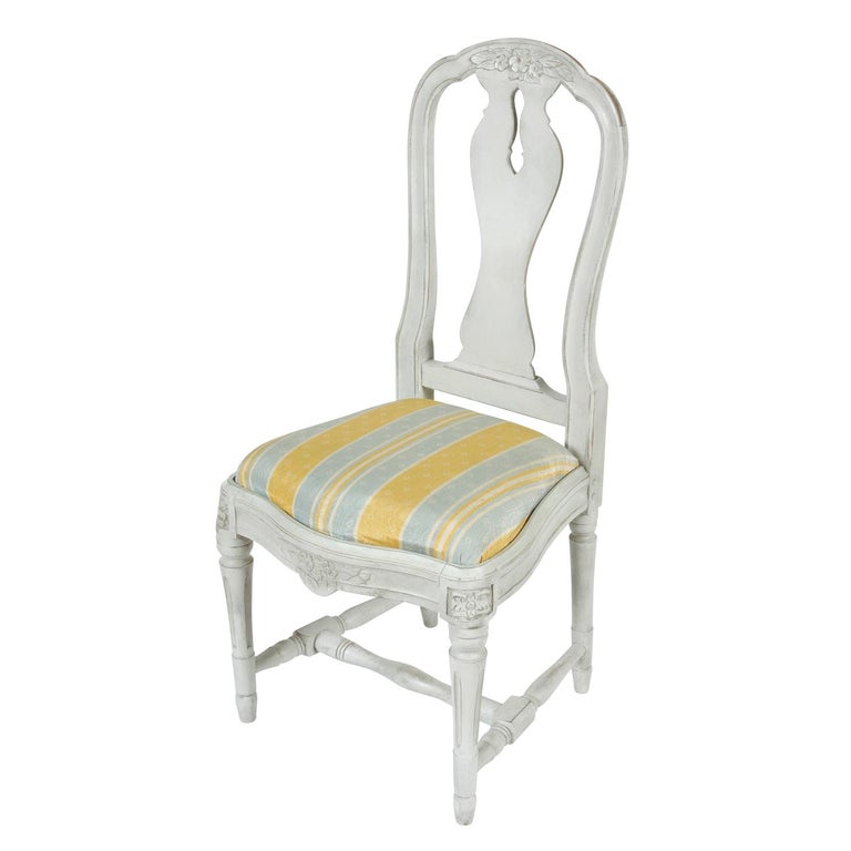 Gustavian Set of 12 Swedish Dining Chairs For Sale