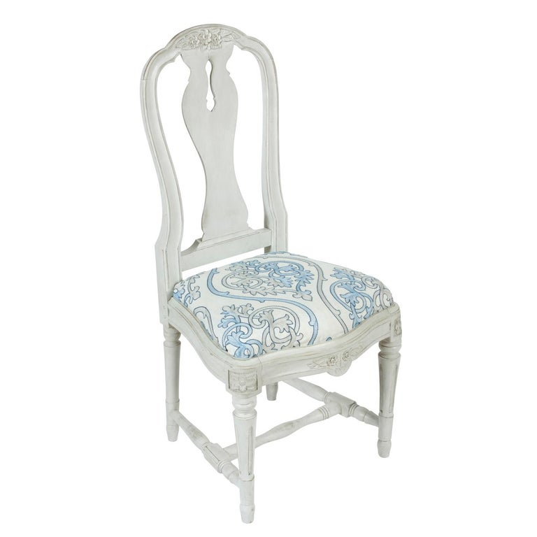 20th Century Set of 12 Swedish Dining Chairs For Sale