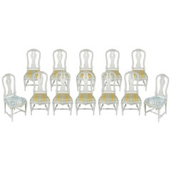 Set of 12 Swedish Dining Chairs