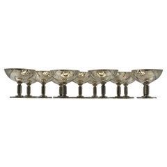 Set of 12 Swedish Sterling Silver Champagnes Desserts Art Deco Cups by Borgila