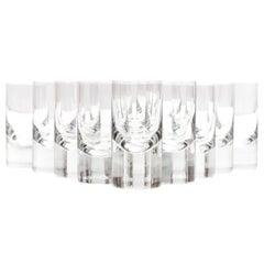 "Set of 12 ""Tir Bar"" Glasses by Roberto Sambonet for Baccarat, 1971"
