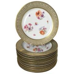 Set of 12 Tirschenreuth Porcelain Service Plates