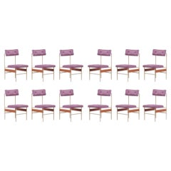 Set of 12 Upholstered Dining Chairs, Italy, 1960s