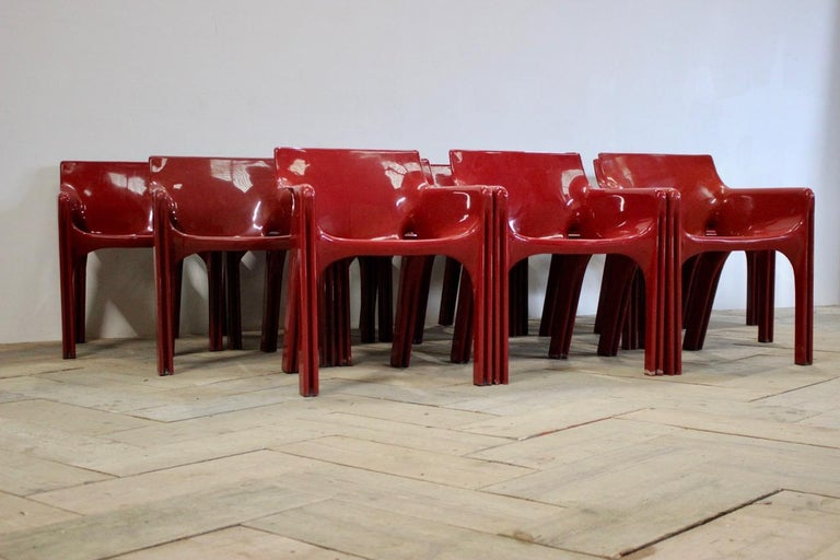 Set of 12 Vico Magistretti Dining Chairs for Artemide In Good Condition In Gloucestershire, GB