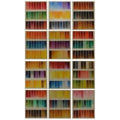 Set of 12 Vintage Artists Oil Color Charts, circa 1900