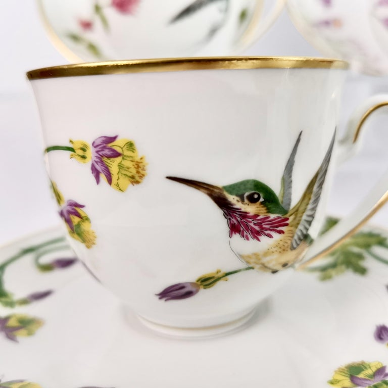 Set of 12 Vintage Bavaria Cups and Saucers, Hummingbirds of the World, 1979 For Sale 4