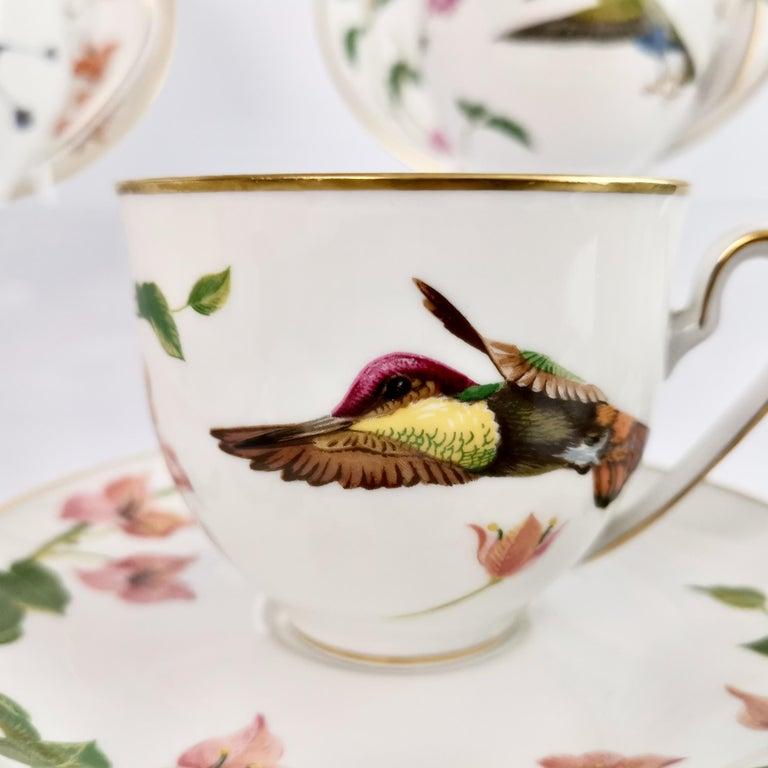 Set of 12 Vintage Bavaria Cups and Saucers, Hummingbirds of the World, 1979 For Sale 6