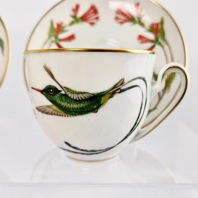 Set of 12 Vintage Bavaria Cups and Saucers, Hummingbirds of the World, 1979 For Sale 1