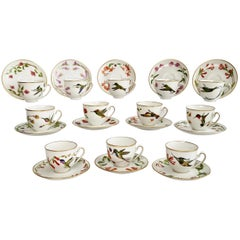Set of 12 Vintage Bavaria Cups and Saucers, Hummingbirds of the World, 1979
