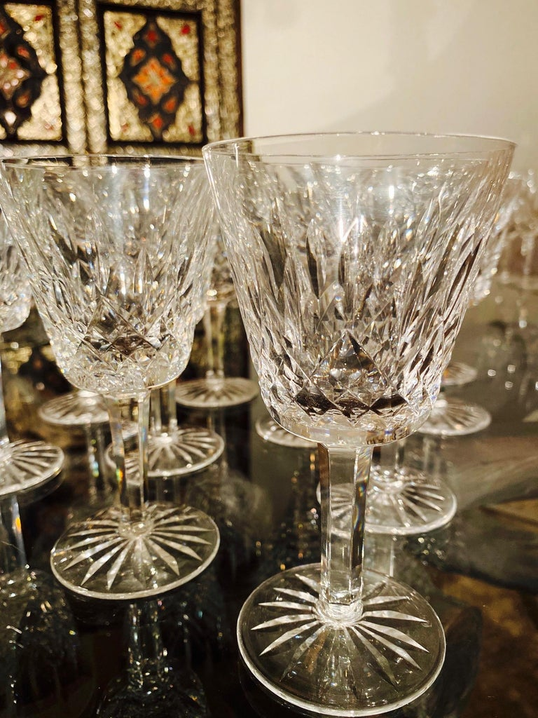 Set of 12 Vintage Waterford Crystal Lismore Wine Glasses, Germany, circa 1990s For Sale 1