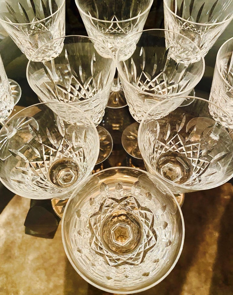 Set of 12 Vintage Waterford Crystal Lismore Wine Glasses, Germany, circa 1990s For Sale 2