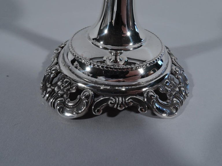 20th Century Set of 12 Wallace Grande Baroque Sterling Silver Goblets For Sale