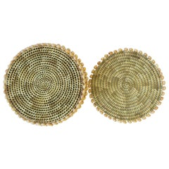 Wicker Rattan and Sea Shell Plate Chargers Placemats