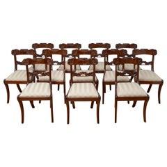 Set of 12 William IV Mahogany Dining Chairs