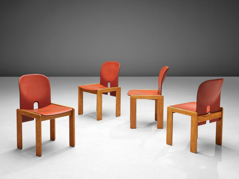 Mid-Century Modern Set of '121' Chairs by Afra & Tobia Scarpa For Sale