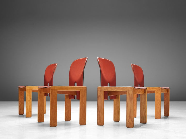 Italian Set of '121' Chairs by Afra & Tobia Scarpa For Sale