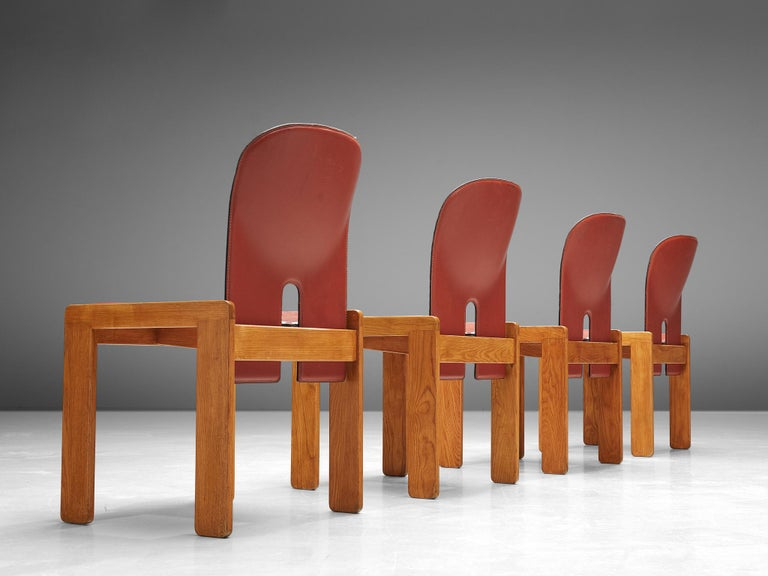 Set of '121' Chairs by Afra & Tobia Scarpa In Good Condition For Sale In Waalwijk, NL