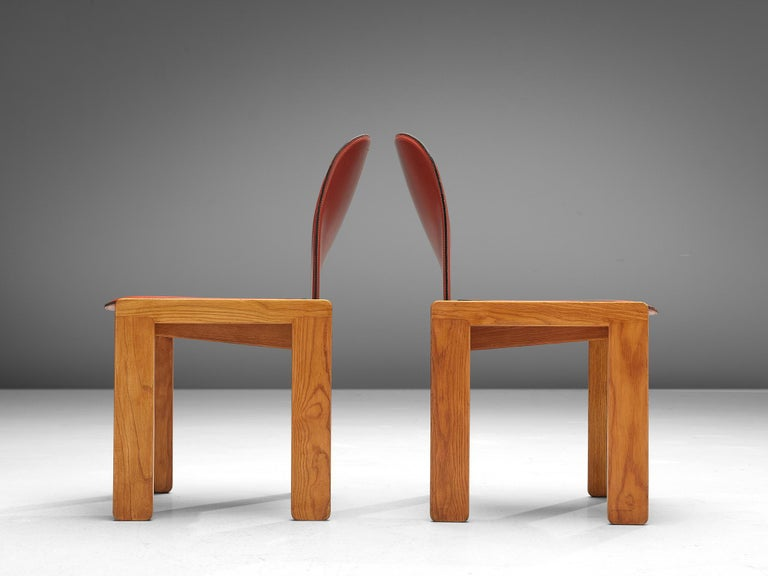 Late 20th Century Set of '121' Chairs by Afra & Tobia Scarpa For Sale
