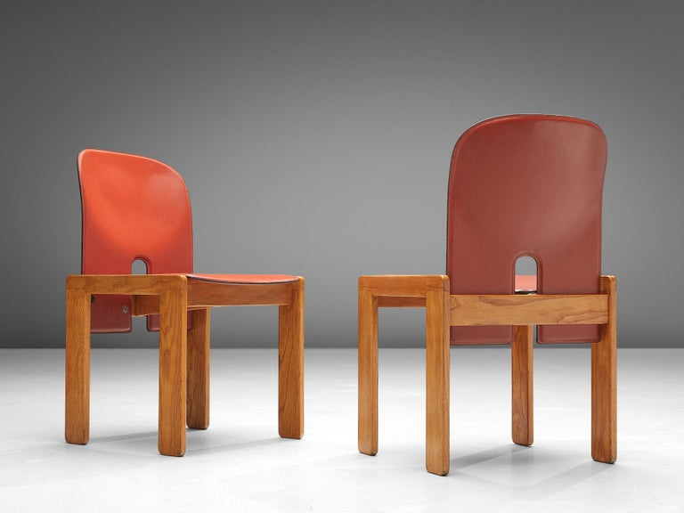 Ash Set of '121' Chairs by Afra & Tobia Scarpa For Sale