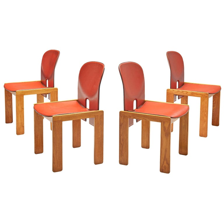 Set of '121' Chairs by Afra & Tobia Scarpa For Sale