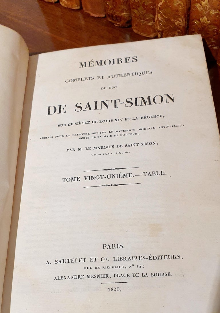 Set of 13 French Leather Bound Books For Sale 1