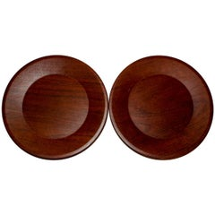Set of 13 Swedish Teak Dining Plates by Silva from 1976