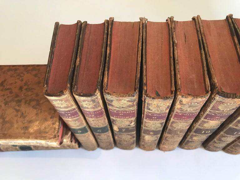 Set of 13 Volumes Antique Leather Books For Sale 7