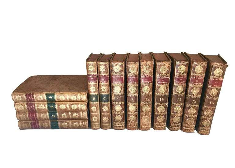 Set of 13 Volumes Antique Leather Books In Good Condition For Sale In Nashville, TN