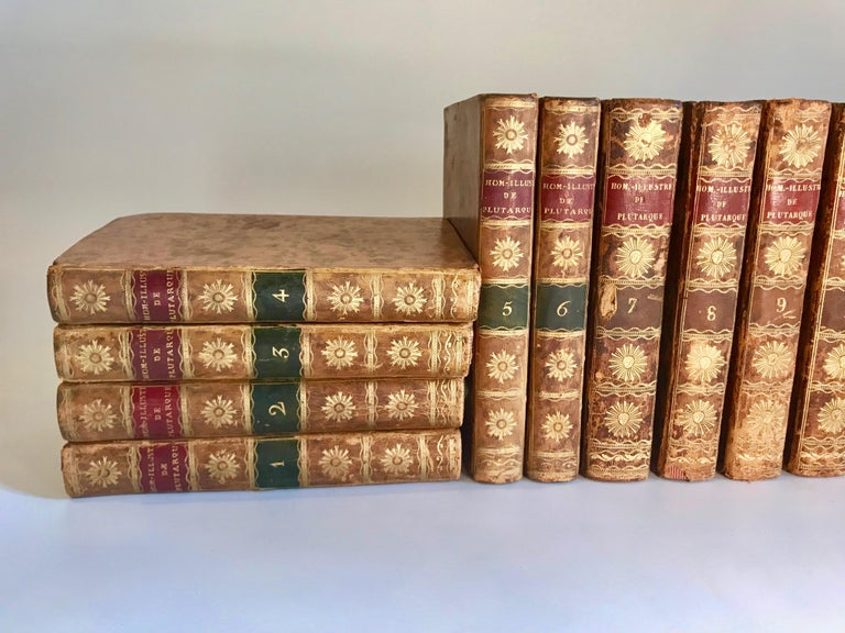 Early 19th Century Set of 13 Volumes Antique Leather Books For Sale
