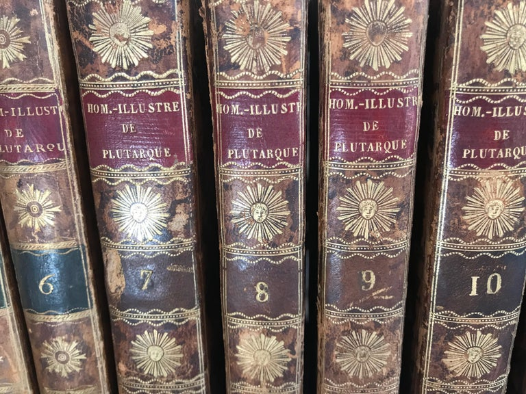Set of 13 Volumes Antique Leather Books For Sale 4