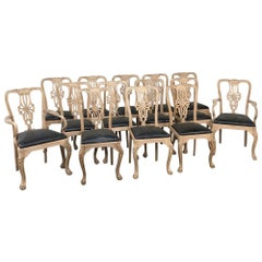Set of 14 Antique Chippendale Chairs includes 2 Armchairs