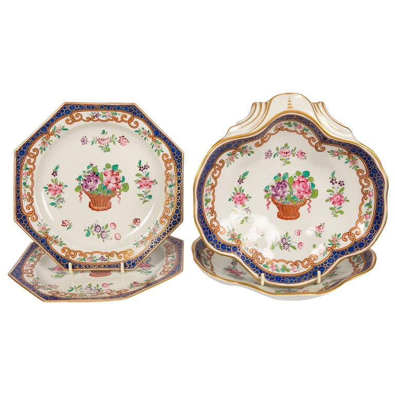 Set Of 14 Antique French Porcelain Dishes At 1stdibs