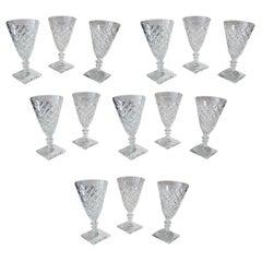 Set of 14 Antique Wine Glasses