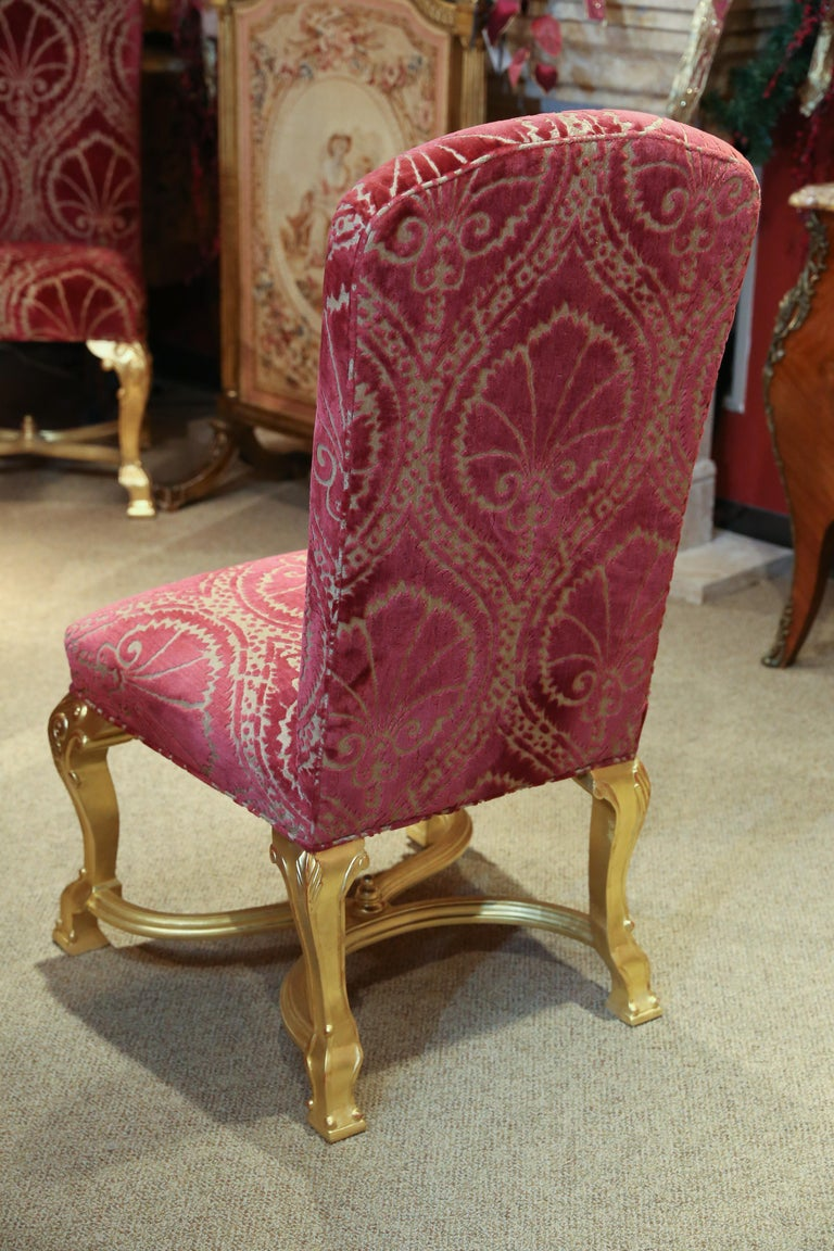 Set of 14 Custom Made Dining Chairs in the French Style, Giltwood For Sale 6