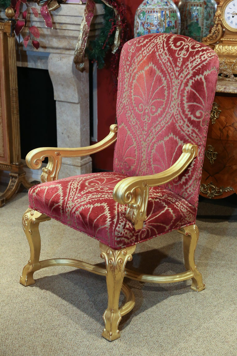 Set of 14 Custom Made Dining Chairs in the French Style, Giltwood In Good Condition For Sale In Houston, TX