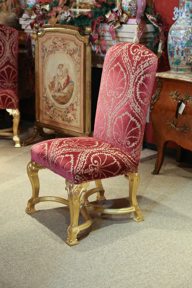 Set of 14 Custom Made Dining Chairs in the French Style, Giltwood For Sale 3