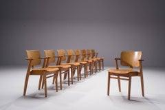 Set of 14 Early 'Domus' Armchairs by Ilmari Tapiovaara for Olga