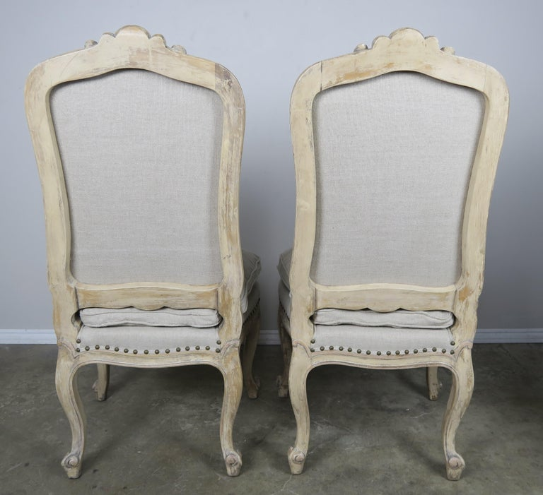 Set of 14 French Painted Louis XV Dining Chairs For Sale ...