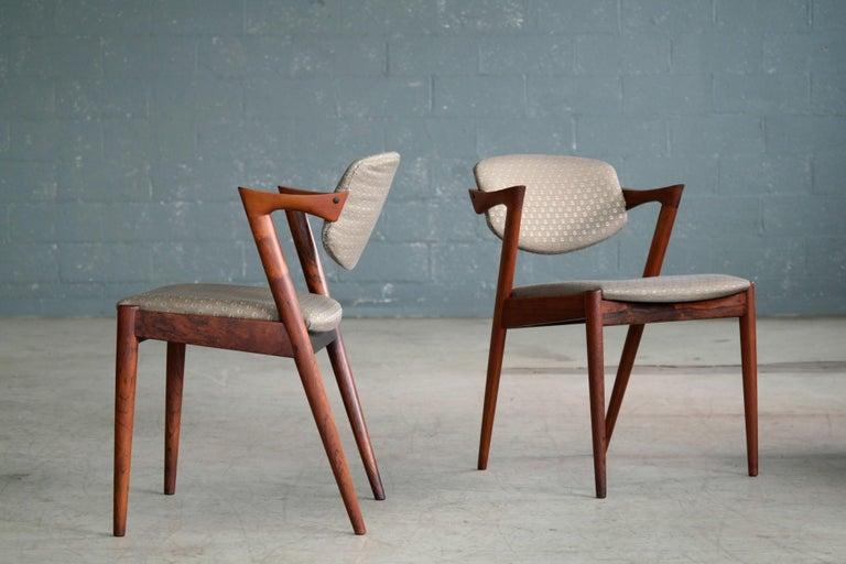 Set of 14 Kai Kristiansen Model 42 Rosewood Dining Chairs for Schou Andersen 6