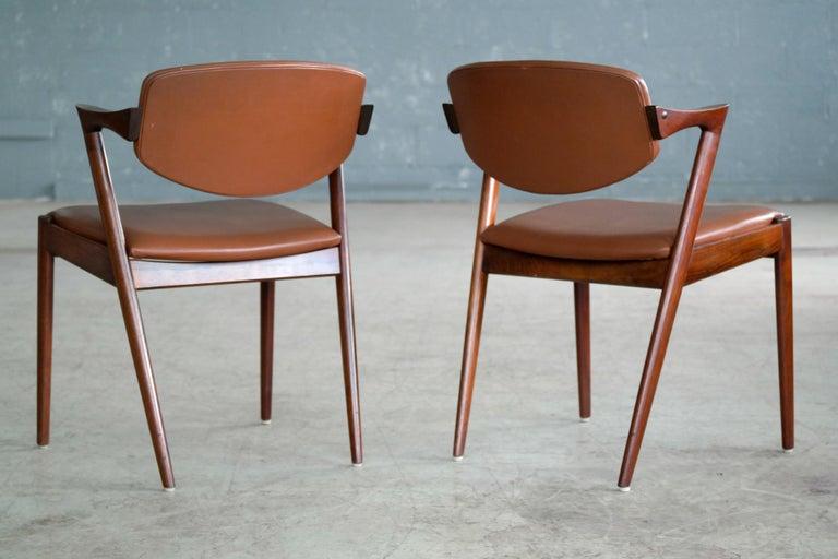 Set of 14 Kai Kristiansen Model 42 Rosewood Dining Chairs for Schou Andersen 8