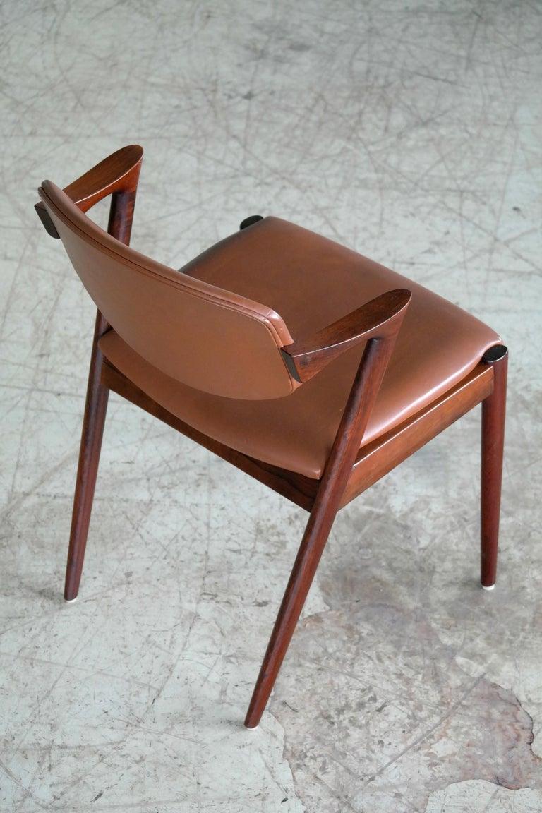 Teak Set of 14 Kai Kristiansen Model 42 Rosewood Dining Chairs for Schou Andersen